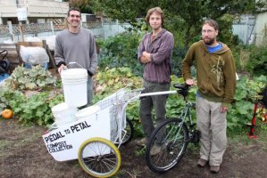 Pedal to Petal, which uses bicycles with trailers to go around and pick up people's compost.