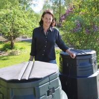 19. Repurposed compost bin